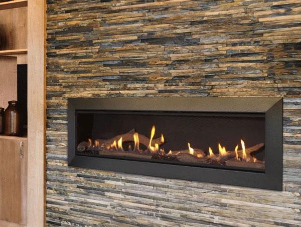 majestic linear gas fireplace