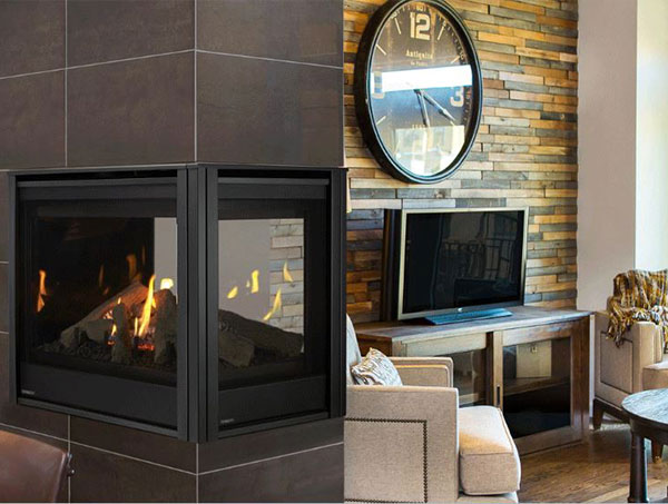 majestic multisided gas fireplace